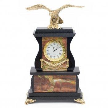 Часы орел яшма