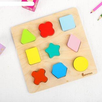 Сортер цветные фигуры, 9 элементов