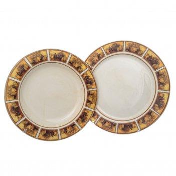 Набор тарелок из 2-х шт. натюрморт (глубокая 24 см., подстановочная 25 см)