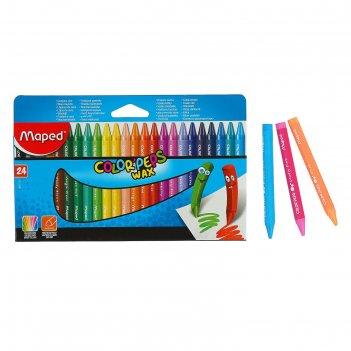 Мелки восковые 24 цвета maped colorpeps wax 861013