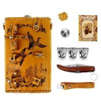 Фляга охота на уток (набор 7 предметов) 1,9 л