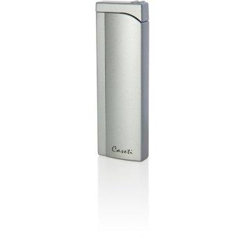 Зажигалка caseti газовая пьезо,  цвет - серебристый, 2,6x1.2x