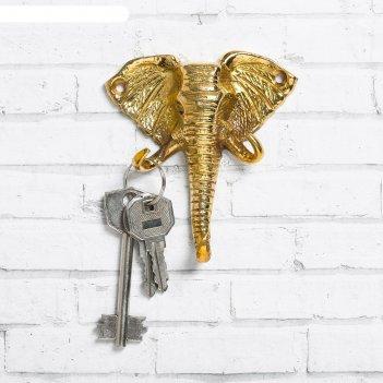 Ключница слон, 8,8 х 10 см