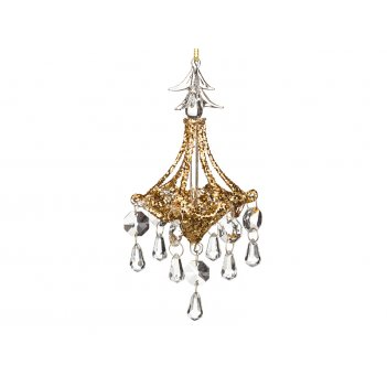 Декоративное изделие люстра золото 7*14 см (кор=64 шт.)
