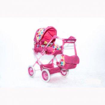 753 кукольная коляска rt цвет тёмно-розовый