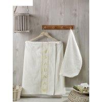 Набор для сауны женский juanna (килт, салма), цвет кремовый