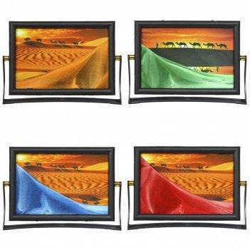 Рамка с песком, с зеркалом,  l20 w4 h14 см, 4в.