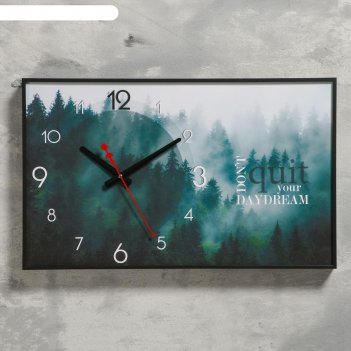 Часы настенные не бросай свою мечту, 1 аа, плавный ход, 37х60 см