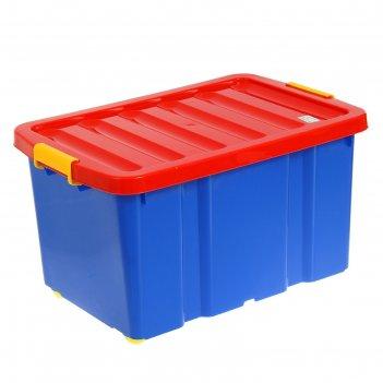 Ящик для игрушек 60 л jumbo на роликах с крышкой
