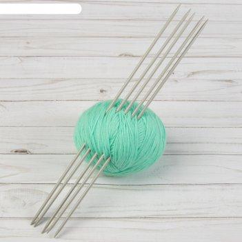 Спицы для вязания, чулочные, d = 4 мм, 35 см, 5 шт