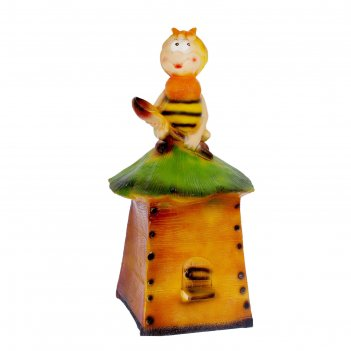 Садовая фигура пчела на улье большая гипс