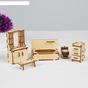 Набор мебели ванная (скамейка, ванна, унитаз, умывальник, шкаф)