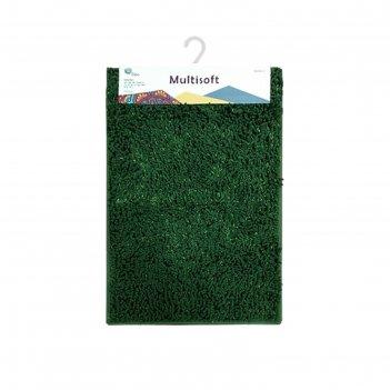 Коврик для ванной multisoft, цвет зелёный, 60х90 см