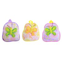 Мягкий рюкзак бабочка на цветах, цвета микс