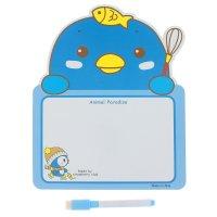 Доска для рисования с ручкой пингвин + черный маркер со стиралкой