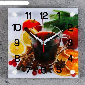 Часы настенные, серия: кухня, глинтвейн, 25х25 см