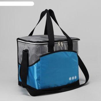 Сумка-термо дорожная, отдел на молнии, 3 наружных кармана, регулируемый ре