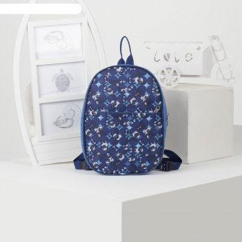 Рюкзак дет рд-06, 20*6*28, отд на молнии, н/карман, синий мопсы