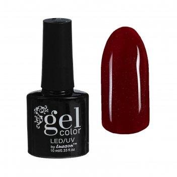Гель-лак для ногтей трёхфазный led/uv, с блёстками, 10мл, цвет в2-093 тёмн