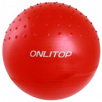 Мяч гимнастический массажный плотный d=65см 1000гр микс
