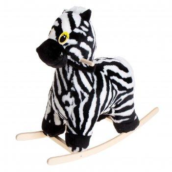 Мягкая музыкальная качалка зебра