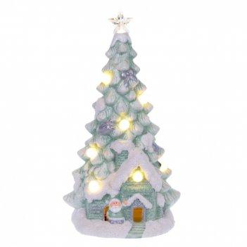 Фигурка декоративная с подсветкой ёлка, l16 w13 h29,5 см
