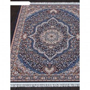 Прямоугольный ковёр isfahan d511, 160x300 см, цвет navy