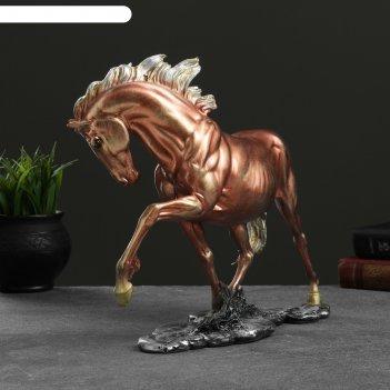 Фигура конь гарцующий бронза,  35х27см