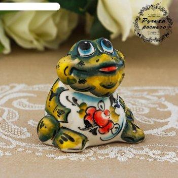 Сувенир жаба, гжель