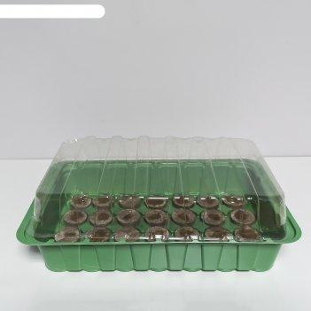 Мини-теплица с торфяными таблетками jiffy 44 мм/28 яч.