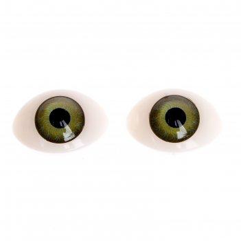 Глаза, набор 8 шт., размер радужки 12 мм, цвет зелёный