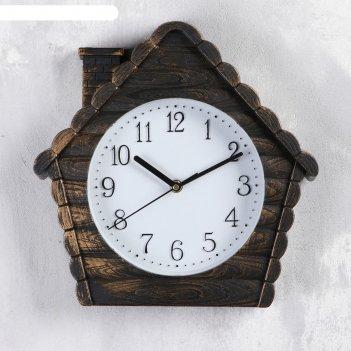 Часы настенные, серия: интерьер, домик,  d цифеблата=18.5 см, 30х30 см, пл