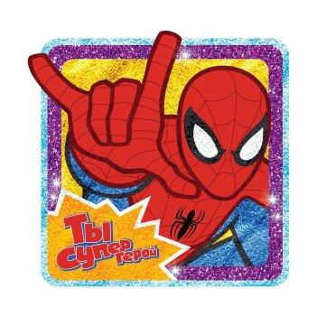 Фреска песком ты супер герой, человек паук + блёстки