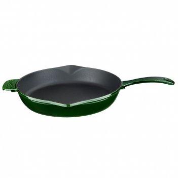 Чугунная сковорода lava majolica green  28 см