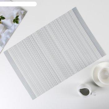 Салфетка кухонная 45x30 см комплимент, цвет серый