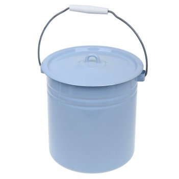 Ведро цельнотянутое с крышкой, 12 л, цвет голубой