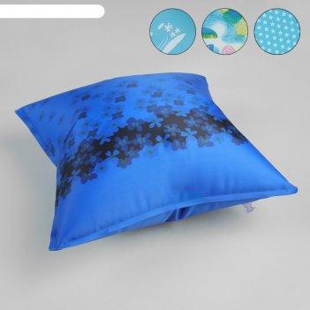 Подушка дорожная, с поролоном, цвета микс