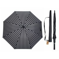 Зонт полуавтоматический «стиль», 8 спиц, r = 56 см, цвет серый/чёрный