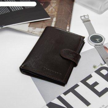 Обложка автодокументы+паспорт+бумажник, натуральная кожа, игуана коричневы