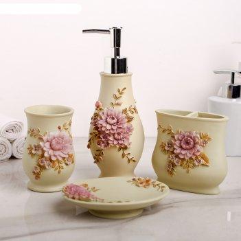 Набор аксессуаров для ванной комнаты, 4 предмета лужайка