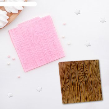 Молд силиконовый «кора дерева», 10,5x10,3 см
