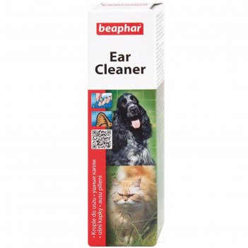 Лосьон beaphar  ear-cleaner для ухода за ушами, 50мл