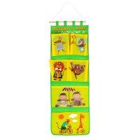 Кармашки на стену лучший в мире ребенок (6 отделений), цвет зелено-желтый