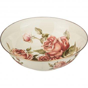 Салатник корейская роза диаметр=25 см.(кор-12шт)