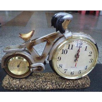 Часы-термометр велосипед настольные (уп.1/12шт.)