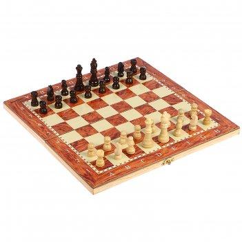 Настольная игра, набор 3 в 1 падук: нарды, шахматы, шашки, доска  34х34 см