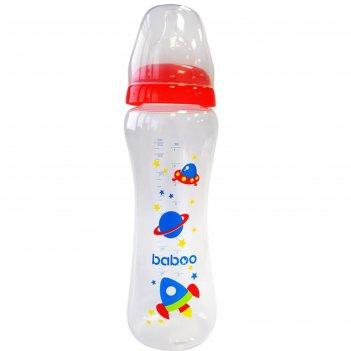 Бутылочка baboo с соской силик. (узкая)  330 мл. space, 3 мес+