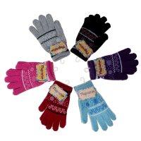 Перчатки молодежные с шерстью collorista р-р 20 цветочки микс, утепленные8