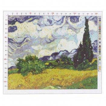 Канва для вышивания с рисунком «ван гог. рожь» 47 х 39 см
