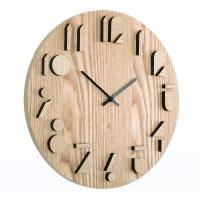 Часы настенные shadow, материал: дерево, размер: 41,3 х 41,3 х 3,8 см, umb